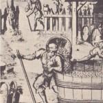 Bâton de porteur de hotte en vendanges - XVIe siècle