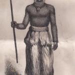 Danseuse masquée de la danse kichi en Zambie - 1875