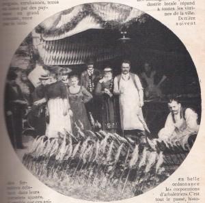 Baguettes porte-harengs à Munich en 1910