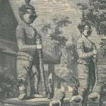 Gardiens de la pagode de Sommona-Kodam à Bankok - Siam