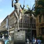 Gandhi - statue à Pitermaritzburg en Afrique du sud