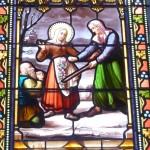 Vitrail dédié à sainte Germaine de Pibrac à Caussade