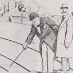 Canne qui montre en 1914