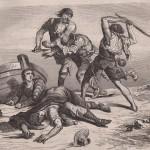 Le pâtre défend le matelot dans La Gitane de Xavier de Montepin