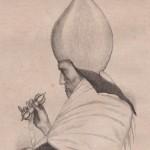 Sceptre de prêtre bouddhiste en 1830