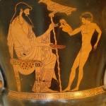 Zeus et Ganymède vase Ve s. avt JC du musée de New-York