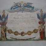 Brevet de prévôt de bâton 1879