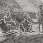 Sorcier africain et son bâton