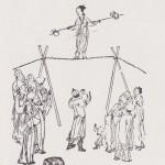 Equilibristes chinois au XVIIIe siècle