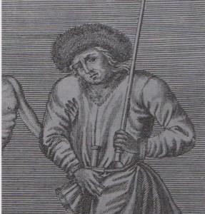 Avoué de Bâle chargé de la justice criminelle 1756 - détail