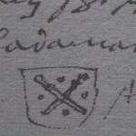 Sceau du prévôt des échevins d'Oberhadamar 1468