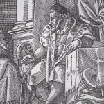 Schultheiss siégeant par Jost Amman 1589 - détail