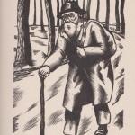 Le Vagabond bois gravé de Delatousche 1933