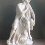 07 Le berger endormi par Louis-Claude VASSÉ ( 1716 - 1772 )