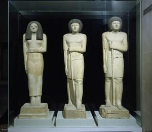 13 Statues de Sepa grand des dizaines du Sud et de la dame Nesa