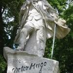 07 Guernsey ( dépendance de la couronne britannique ) Statue de Victor Hugo écrivain et dramaturge