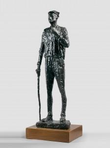 10 Léon Indenbaum sculpteur français Le vieil homme à la canne