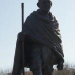 16 Strasbourg France Statue de Gandhi ( Mohandas Karamchand Gandhi ) guide spirituel