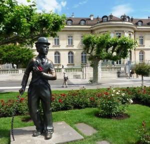 23 Vevey Suisse Statue de charlie chaplin acteur réalisateur