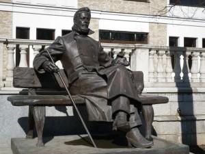25 Zvenigorod Russie Statue de Anton Tchekhov écrivain et dramaturge
