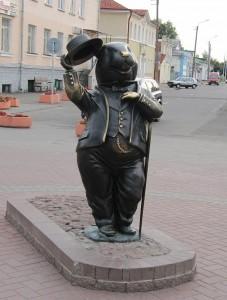 28 Bobrouïsk Bielorussie Sculpture du castor, symbole de la ville de Bobrouïsk