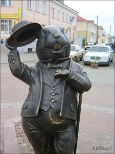 29 Bobrouïsk Bielorussie Sculpture du castor, symbole de la ville de Bobrouïsk