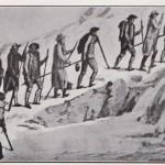 Bâton de cordée lors de l'ascension du col du Géant par Saussure