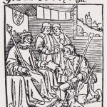 Roi et berger gravure sur bois XIVe ou XVe siècle