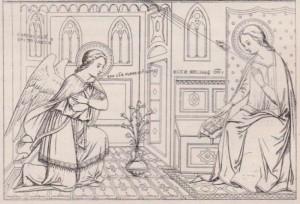 Ange de l'Annonciation par Cavallini XIVe s