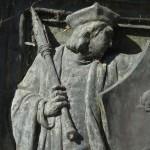 Détail statue de Rabelais à Chinon