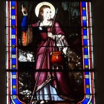 Vitrail de Ste Thérèse - 1880 - église St-Pierre-de-Rest à Montsoreau 49
