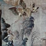 Bâton de l'ange remis à St Mammès - tapisserie Langres 16e s