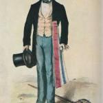 Compagnon tisseur-ferrandinier du Devoir - litho 1858