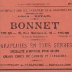 Parapluies cannes et cravaches Bonnet - Tours 1938