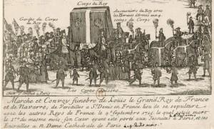 Funérailles de Louis XIV 1715 BnF