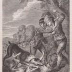 Bâton de berger contre des chiens