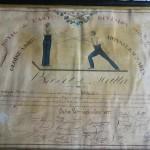 Brevet de maître de bâton Cadix 1827