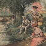 Pêcheurs à la ligne - La Pêche à la ligne supplément au Petit journal 24-07-1904