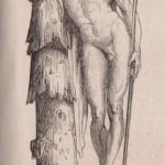 Aristée pleurant ses abeilles par Hiolle - gravure 1862