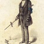 Compagnon cordier du Devoir en tenue d'enterrement - 1858