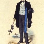 Compagnon menuisier du Devoir de Liberté  en tenue d'enterrement - 1858