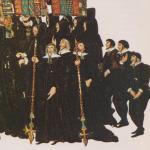 Obsèques d'Elisabeth 1ère en 1603 - British Museum