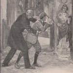 Beautrelet frappe les statues avec sa canne dans l'Aiguille creuse