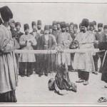 Bastonnade sur les pieds en Iran en 1908