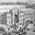 Entrée de l'Exposition universelle de Paris en 1855