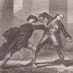 Duel au XVIIIe siècle - gravure 1864